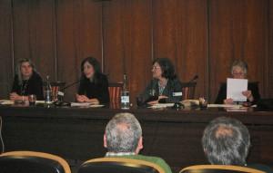 De esquerda a dereita, Rosa Corral, María Solar, Fina Casalderrey e Engracia Vidal