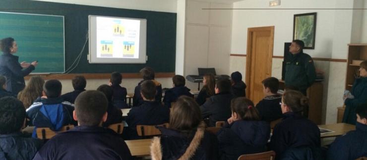 Charla Guardia Civil para alumnos de 1º ESO