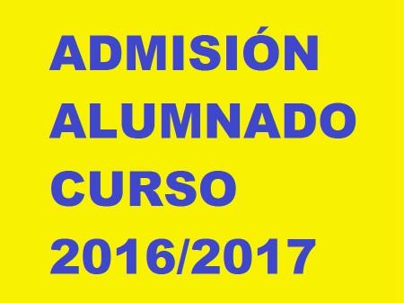 admision 16-17