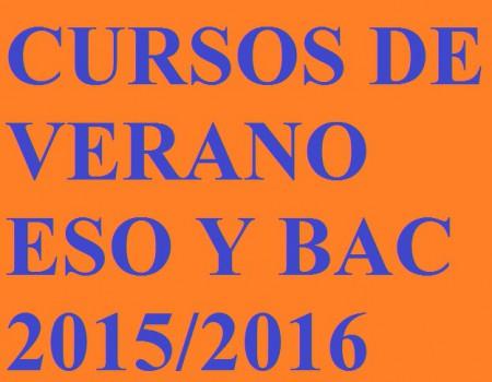 CURSOS DE VERANO 2016