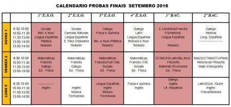 examenes septiembre 2016