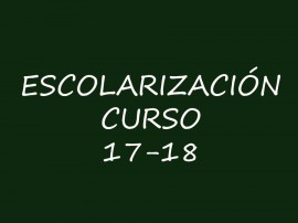 ESCOLARIZACION 17-18