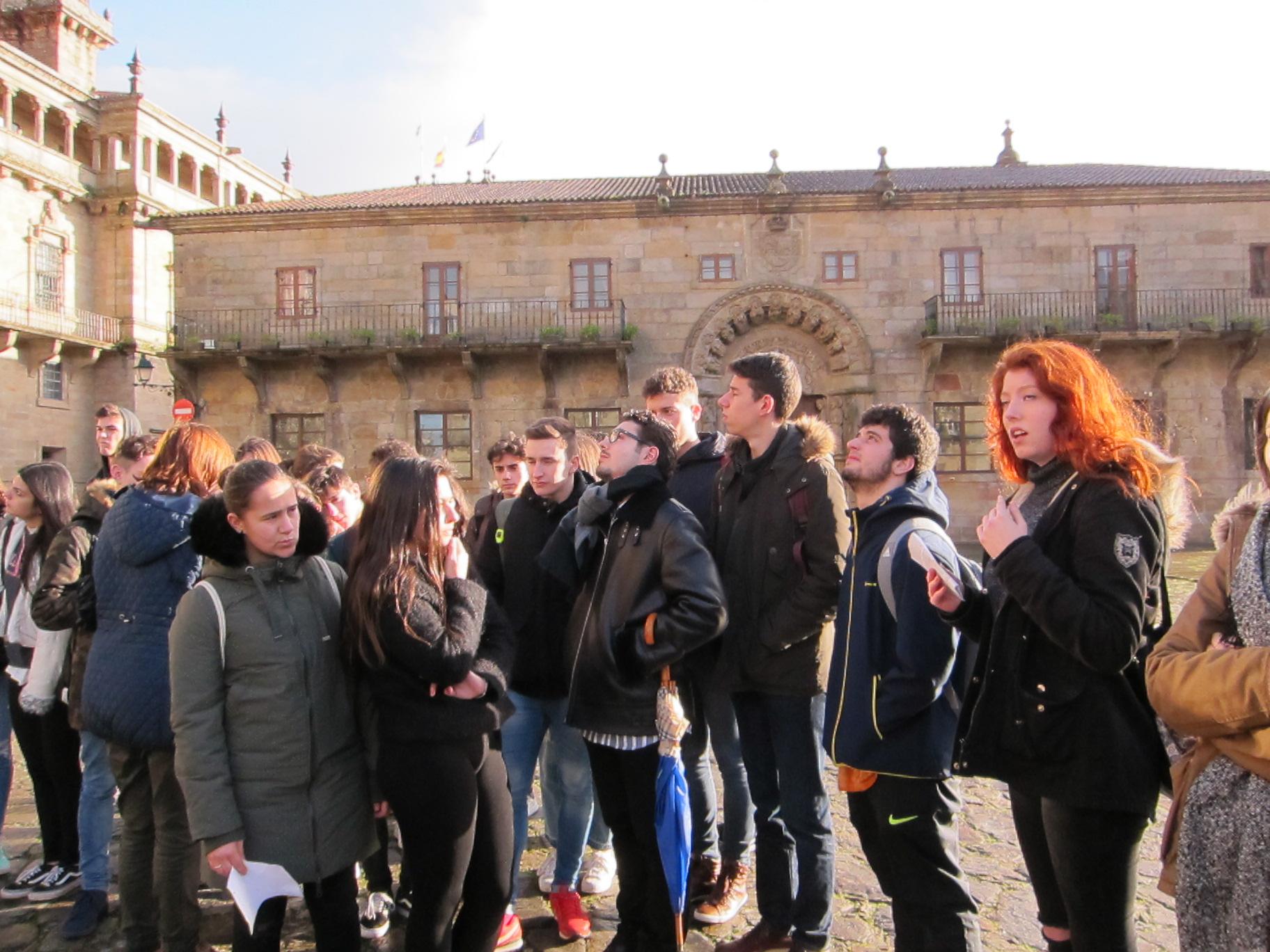 Saída a Santiago dos alumnos de Bacharelato