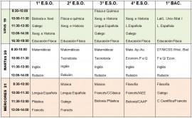 calendarios exames finais xuño 2017