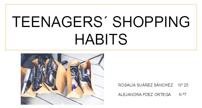 Teenagers' Shopping Habits