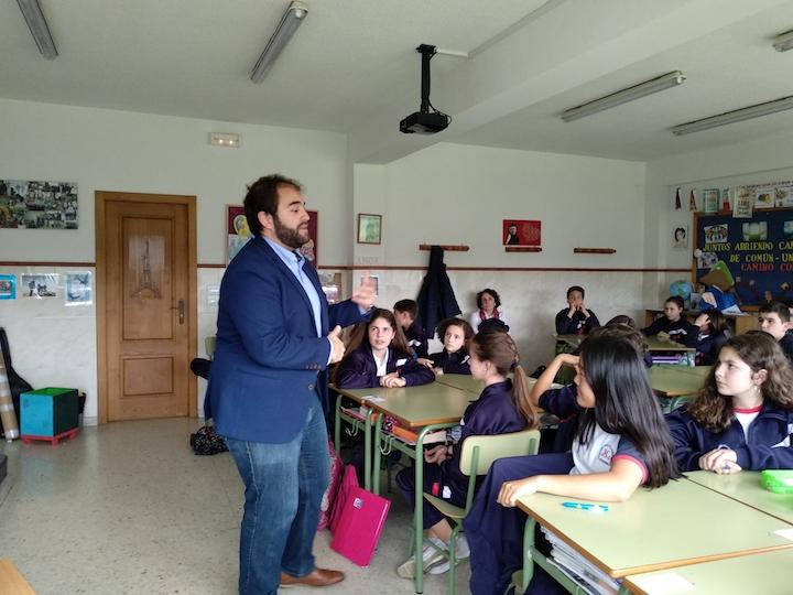 Visita de Pepe Martínez en 1º ESO