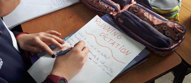 Running Dictation en 6º EP