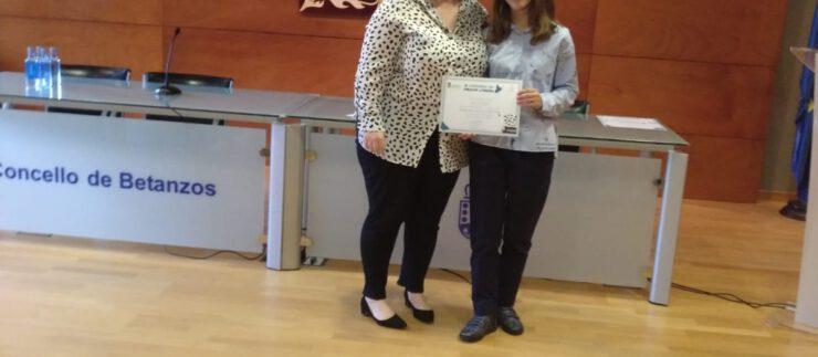 Sofía dos Santos, gañadora do accésit na categoría de ESO no IX Concurso de Creación Literaria