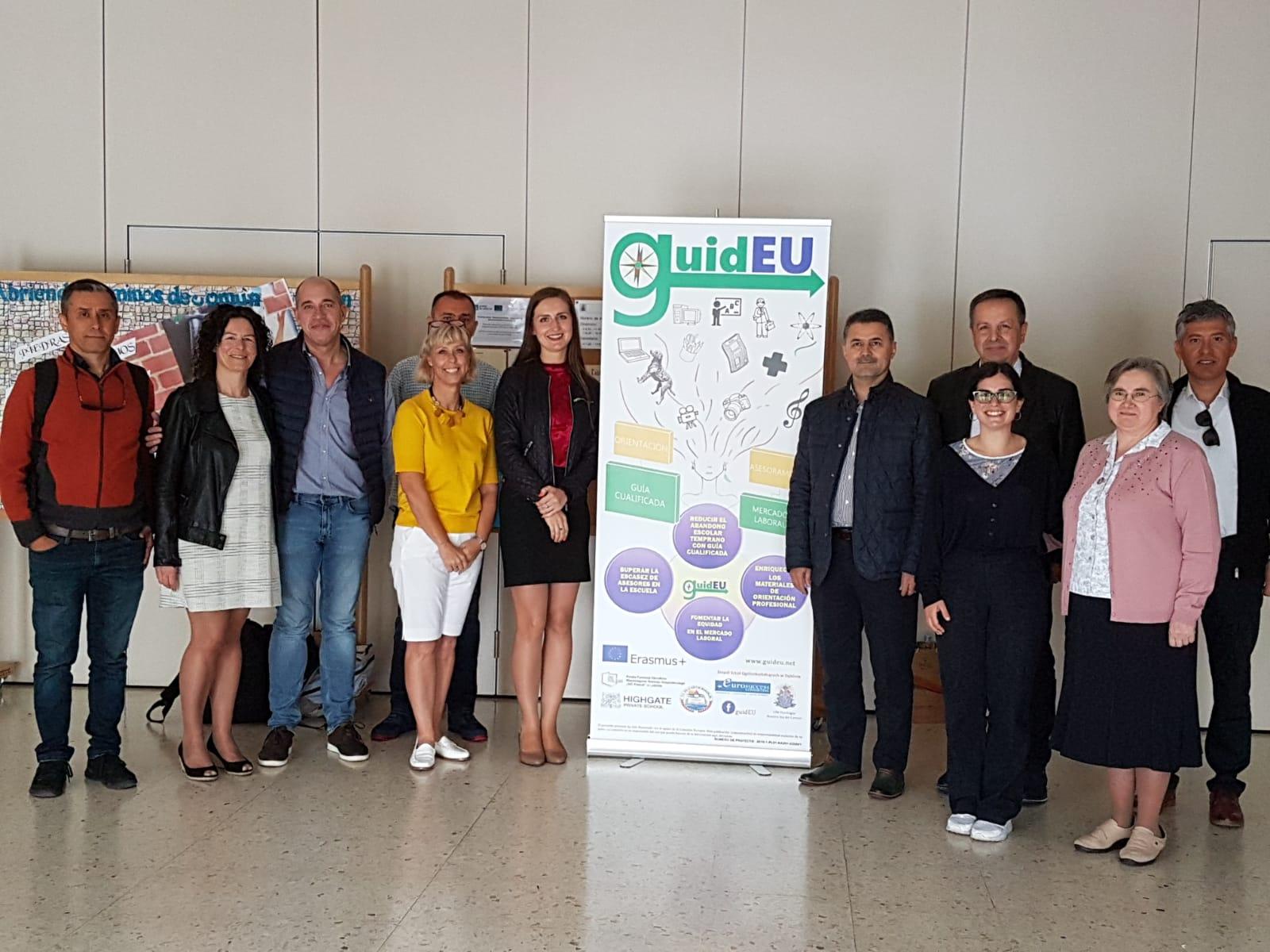 Responsables del proyecto europeo Erasmus GuidEU se reúnen en nuestro colegio
