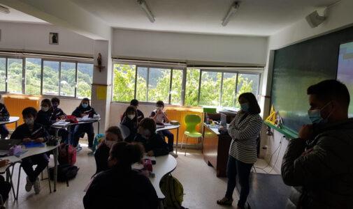 Visita da alcaldesa aos alumnos de 5°EP