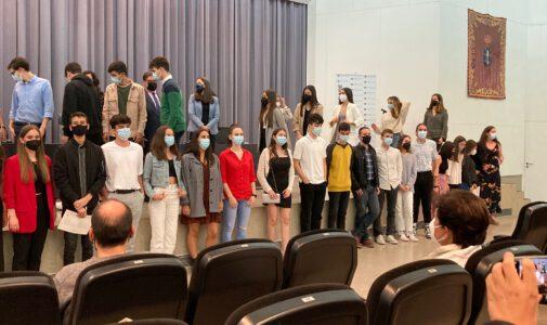 Acto entrega de diplomas STEMBach na Universidade da Coruña